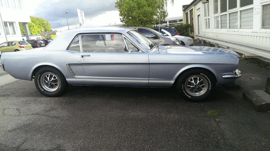 Car HiFi Einbaubeispiel im Ford Mustang 1965