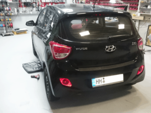Hyundai i10 Car-HiFi Einbaubeispiel von Finsterwalder Elektronik